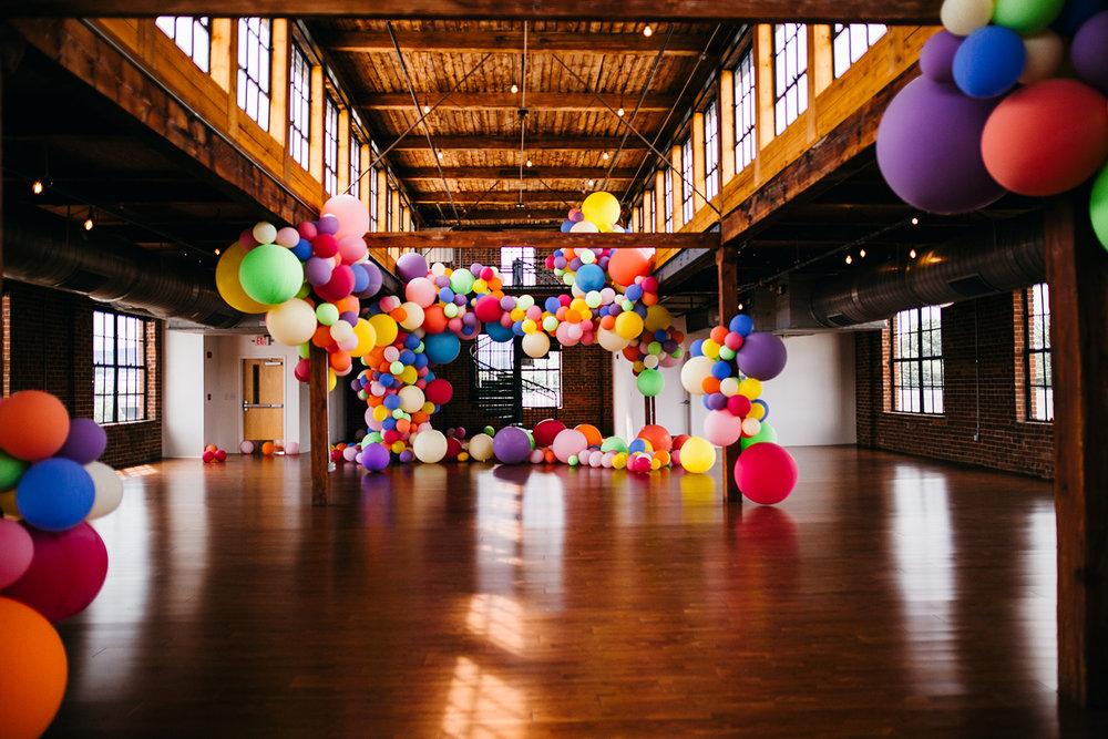 4th Floor balloon installation