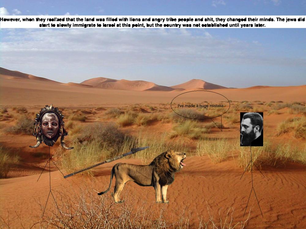 14. Zionism 5: hertzl in desert.png