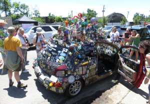 A way crazy art car.