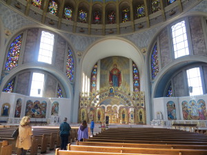 Lovely Byzantine-style architecture, Ukrainian Catholic Cathedral in Philadelphia.