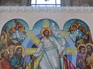 Mosaic panel in the Ukrainian Catholic Cathedral in Philadelphia.