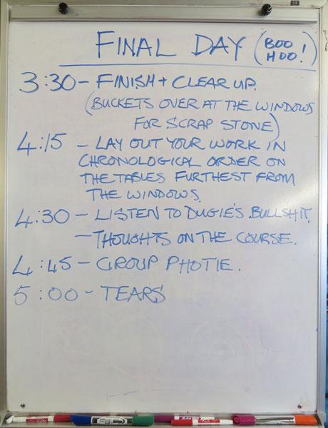 Final day's agenda