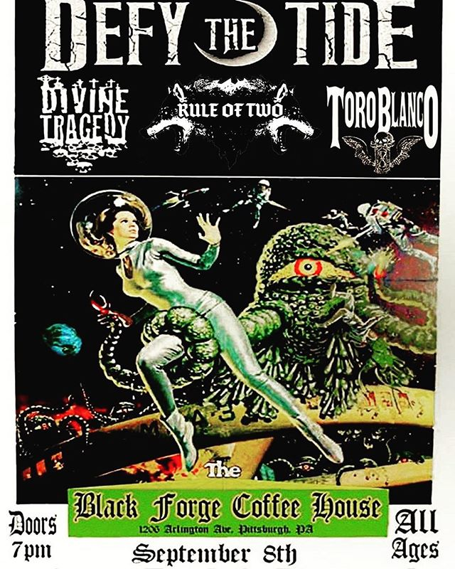 Catch us this Friday, September 8th at @blackforgepgh with Divine Tragedy, Rule of Two and Toro Blanco! See you then #pittsburgh 🖤🤘🏻 . . . . @pghpunkrock @pghcitypaper @localpgh @pghmusicmag #music #supportlivemusic #metal #rocknroll