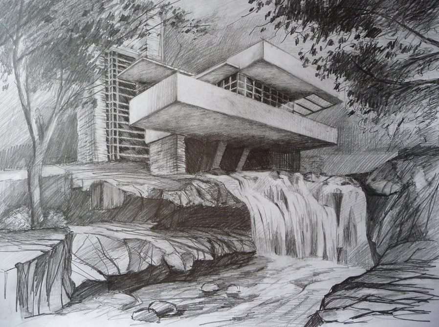 Frank-Lloyd-Wrigth-waterfall-house