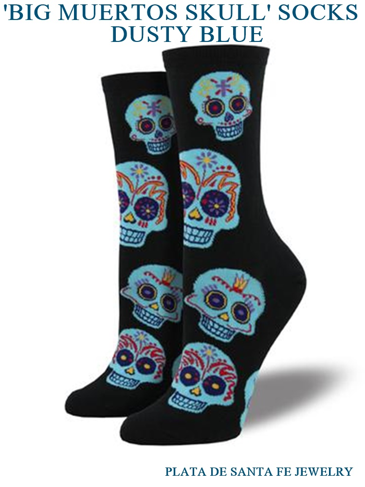 98c49bcd04c Dia de los Muertos Charcoal Gray Woman s Crew Socks with Sugar ...