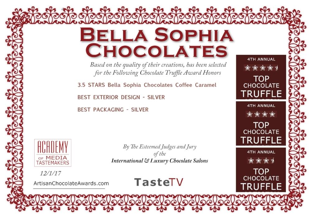 Bella Sophia Chocolates-Truffle-2017 Certificate.jpg
