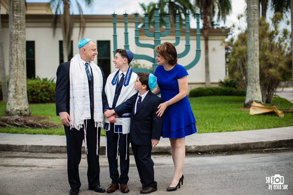 bar mitzvah synagogue portrait b'nai aviv weston, fl