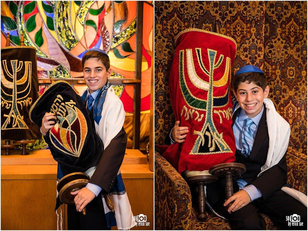 mitzvah portrait holding torah