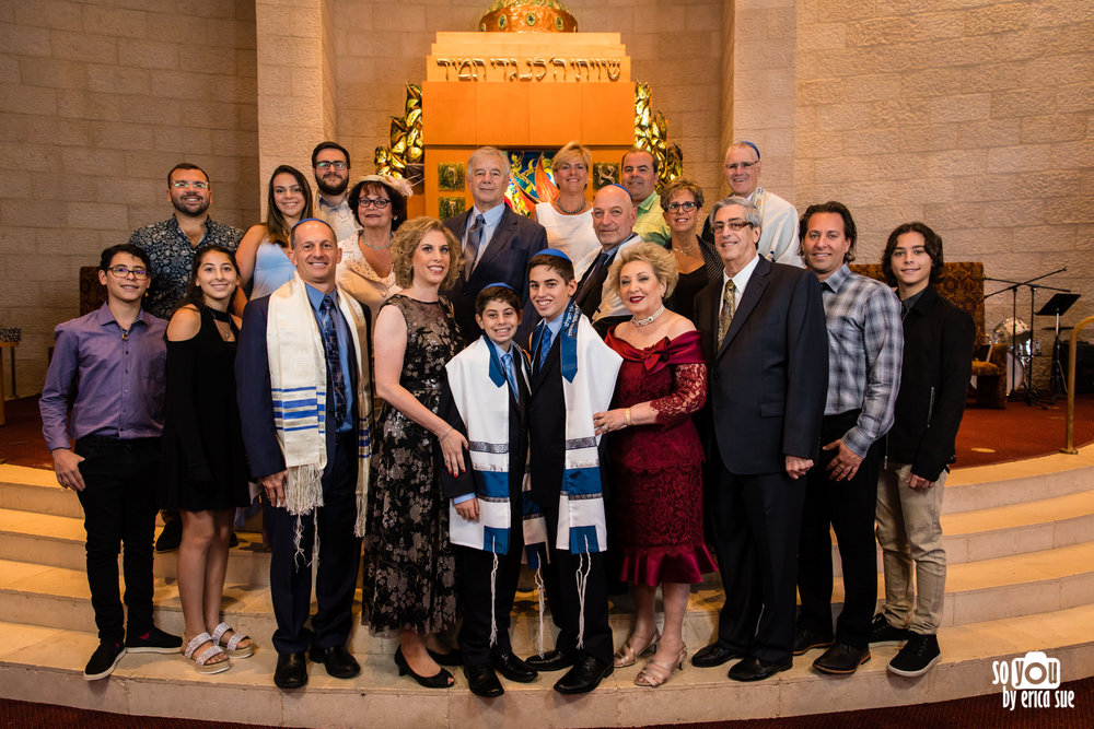 mitzvah extended family portrait