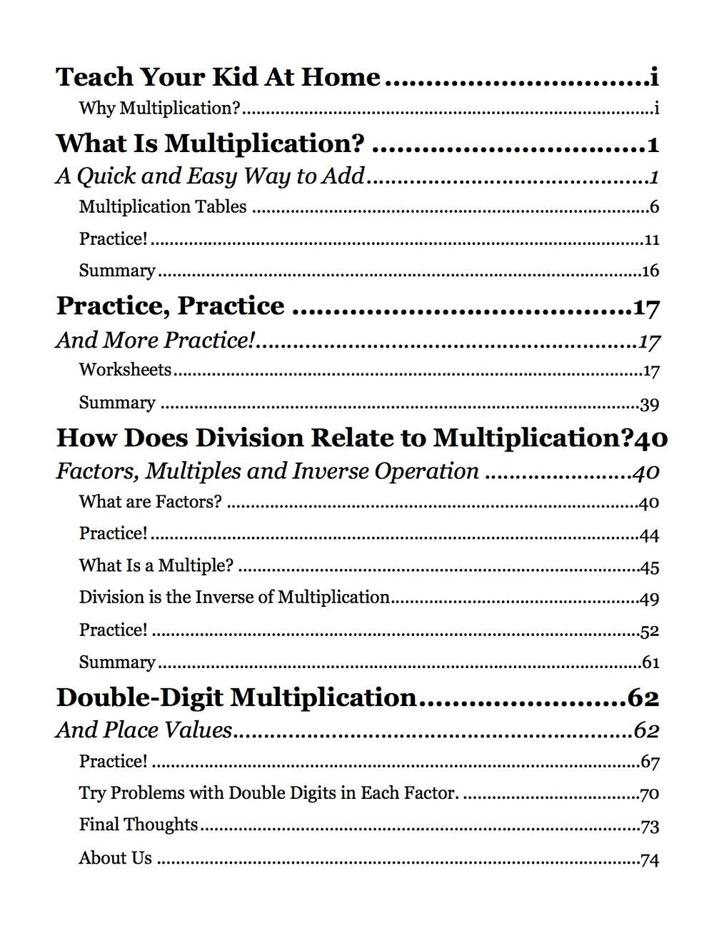 Teach Your Kid at Home: Multiplication