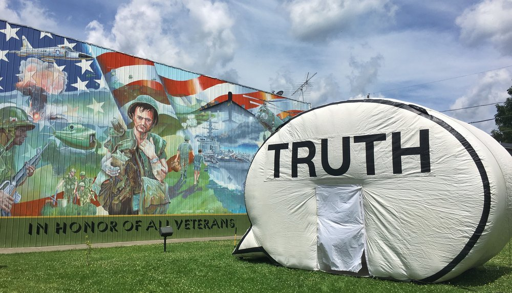 The Cause Collective,  In Search of the Truth , 2016. Photo courtesy of the artists.