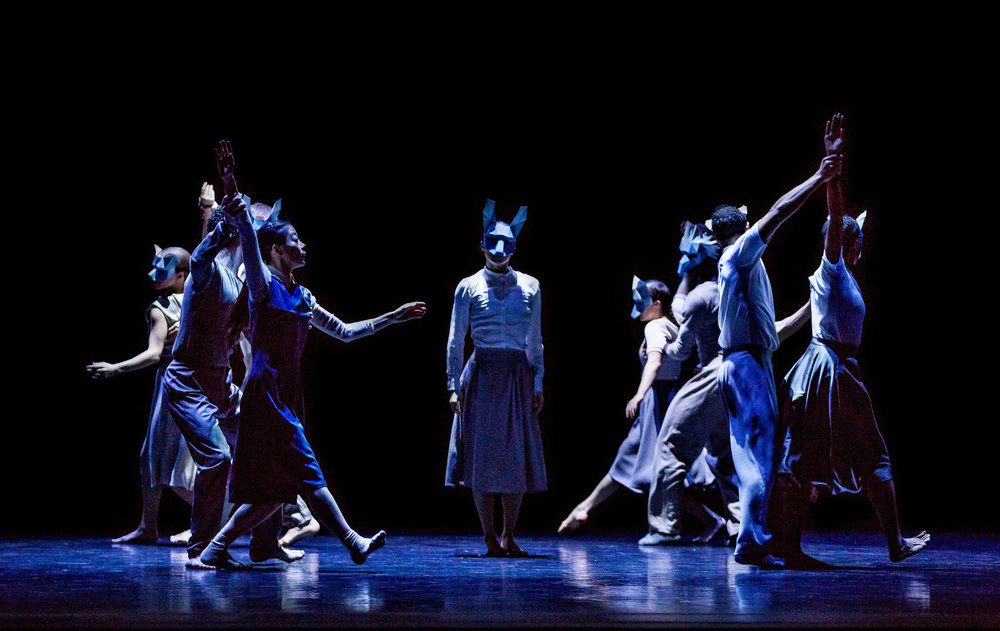 "Martha Graham Dance Company in Pontus Lidberg's ""Woodland."" Photo by Brigid Pierce. Courtesy of Martha Graham Dance Company."