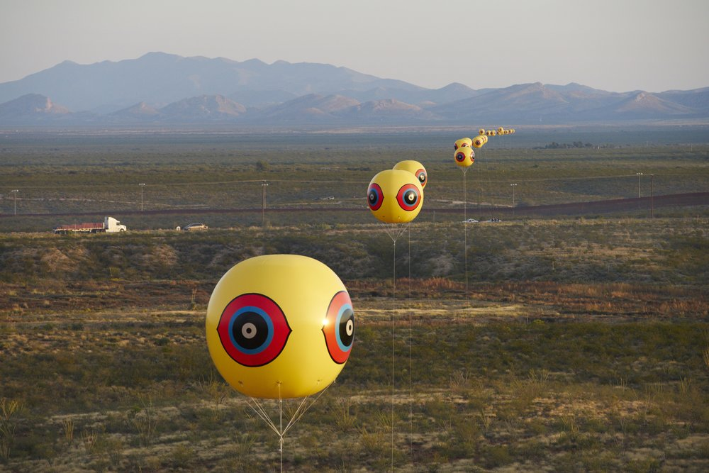 Postcommodity,  Repellent Fence  (2015). Image Michael Lundgren, courtesy of Postcommodity.