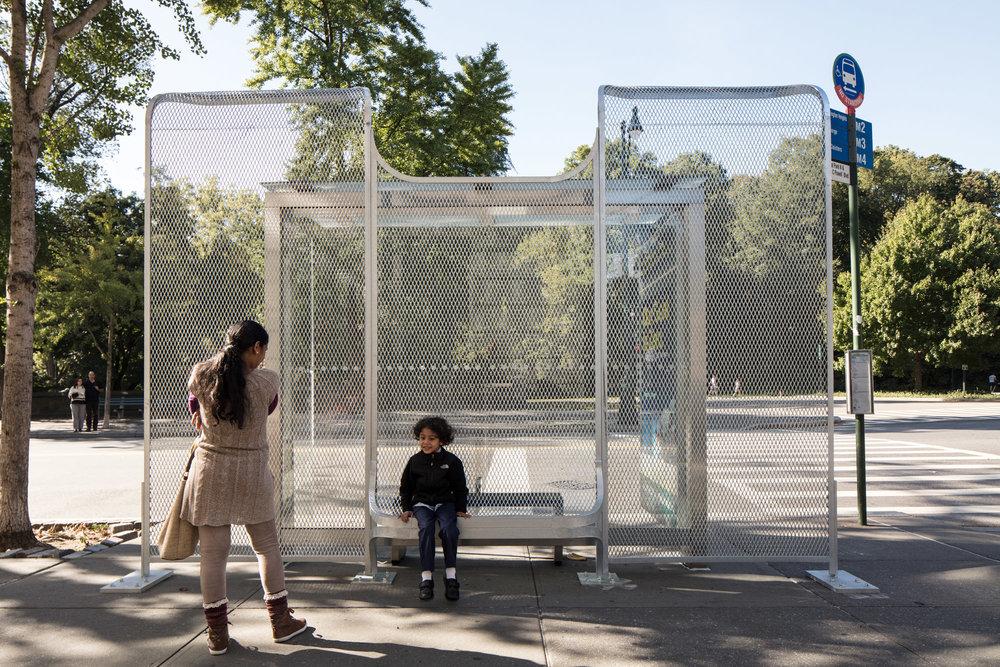 Ai Weiwei, Harlen Shelter 1  (Galvanized mild steel), 2017-2018.Courtesy of the artist, photo Ai Weiwei Studio.