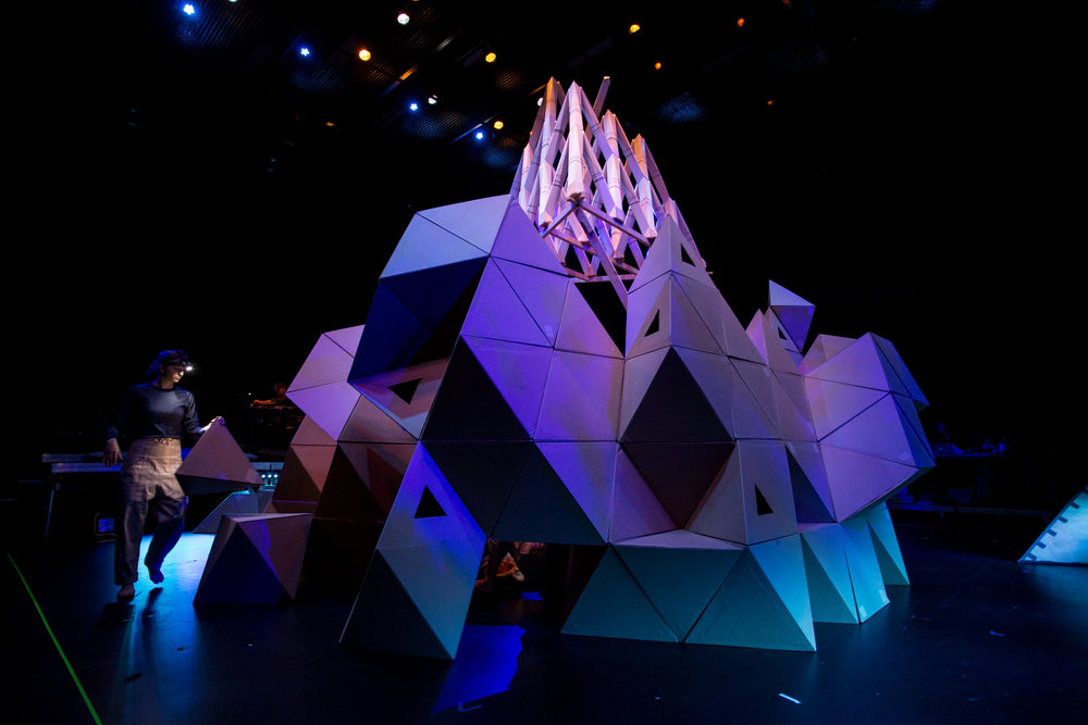 Rude Mechs,  Not Every Mountain  (performance, installation), Guthrie Theatre, July 2018. Image courtesy Dan Norman.