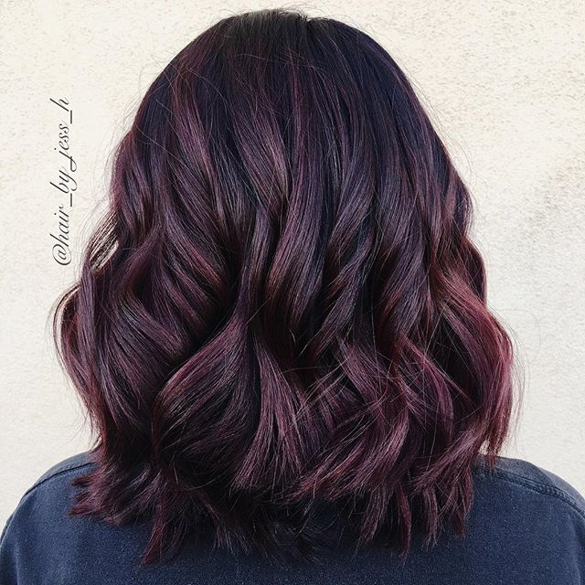Loving this rich color for the winter season. Hair by @hair_by_jess_h