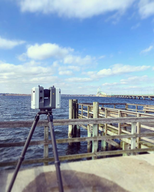 Capturing part of the 11,247' of the Claiborne Pell Newport Bridge with the #RTC360 🔭 #newportbridge #newportri #3d #laserscanning #leicageosystems #captureri