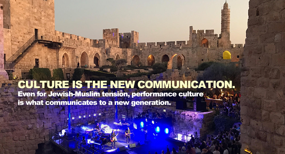 The sun sets upon the Mekudeshet Festival in Jerusalem's Tower of David