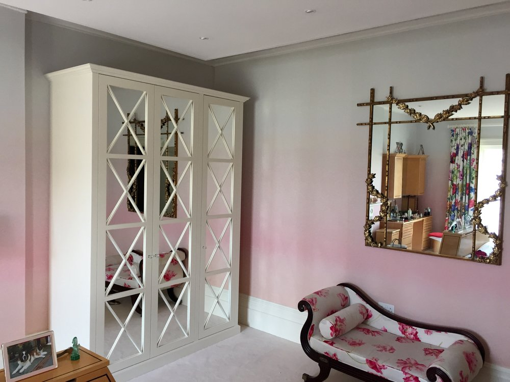 Bespoke mirror front wardrobe