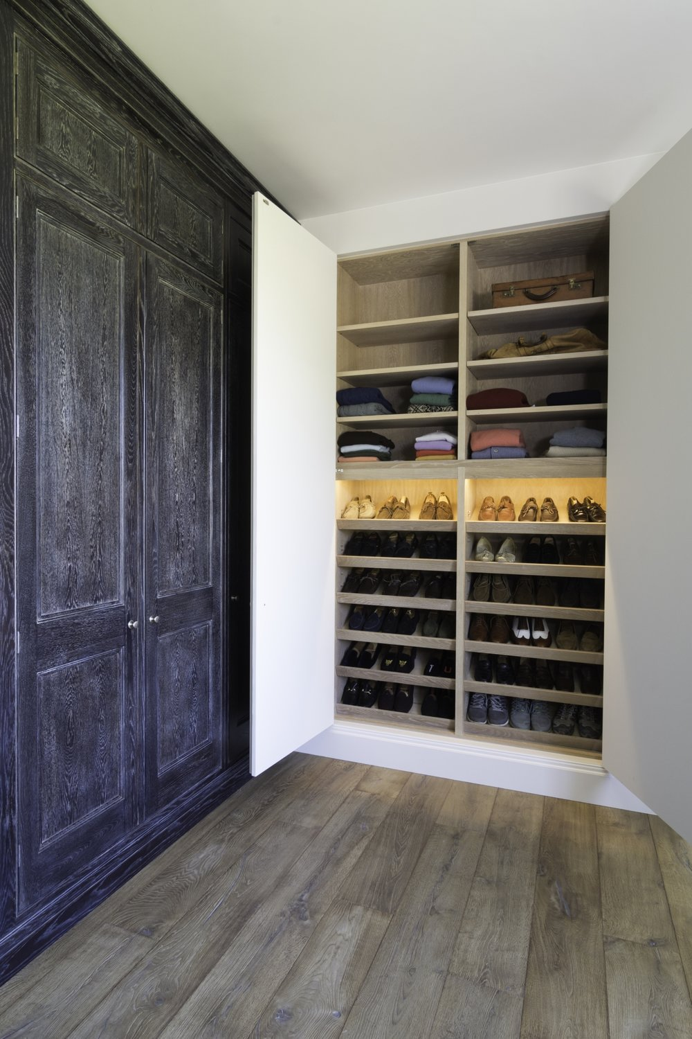 Bespoke shoe storage