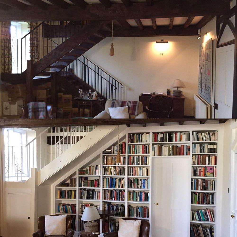 Walk-through bookcase