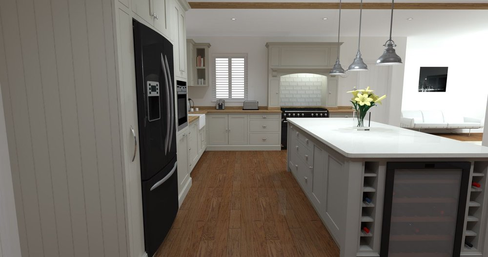 Shaker kitchen in solid oak