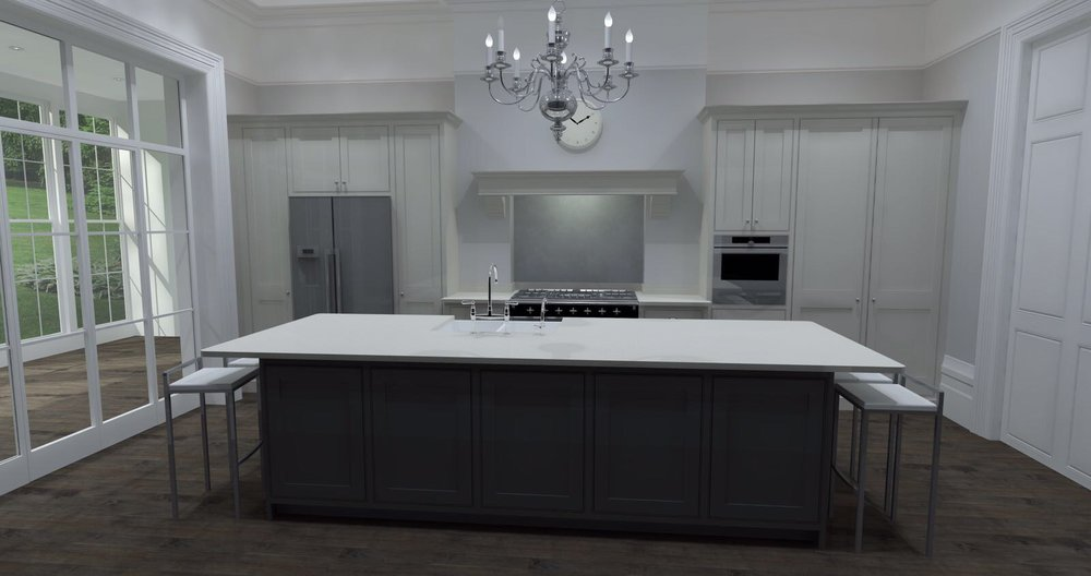traditional shaker style kitchen full view