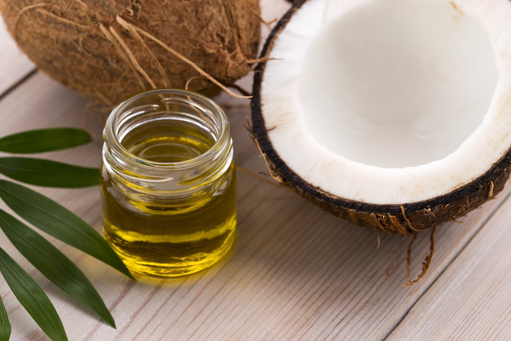 Coconut oils infused with legal herbs for cooking and cosmetics.
