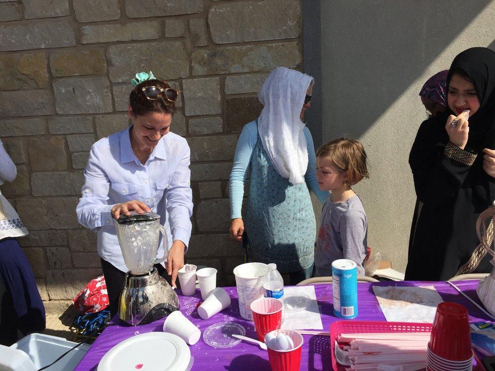 Young Muslim Academy - Tasked to run the smoothie and frappuccino booth at the YMA Spring Fun Day, we enjoyed meeting new friends, learning about each other, and blending lots and lots of frozen goodies.