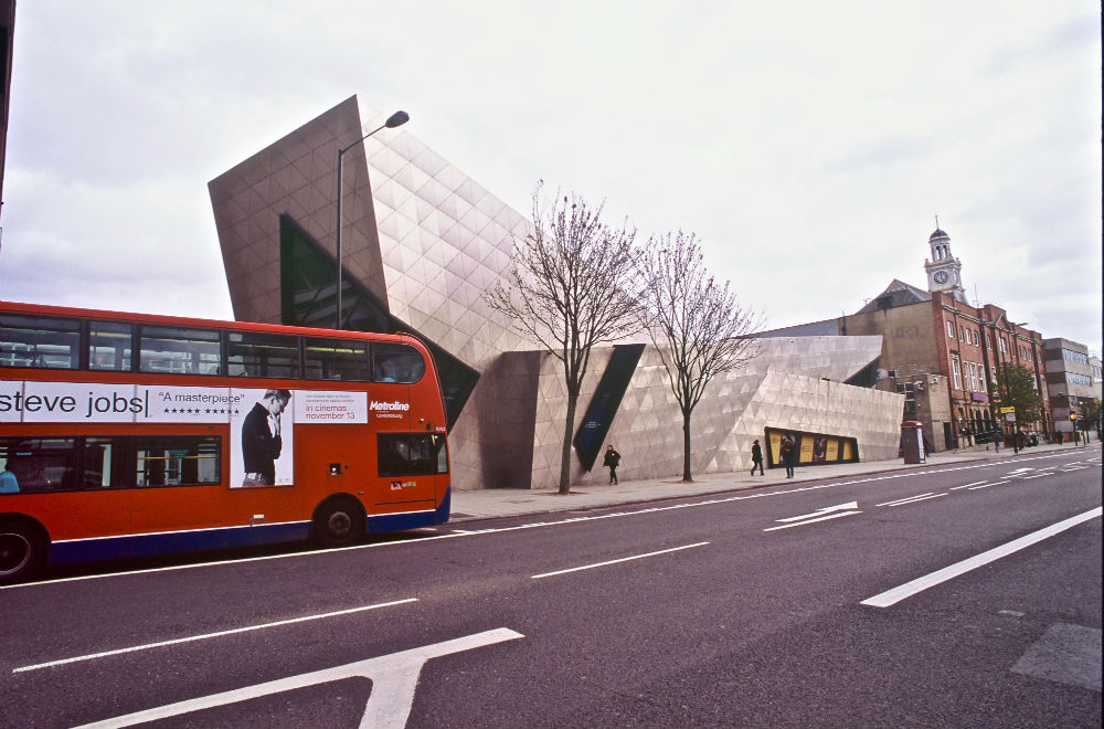 The London Metropolitan University Graduate Center, designed by Daniel Libeskind