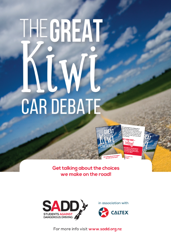 The great Kiwi car debate - A3 poster