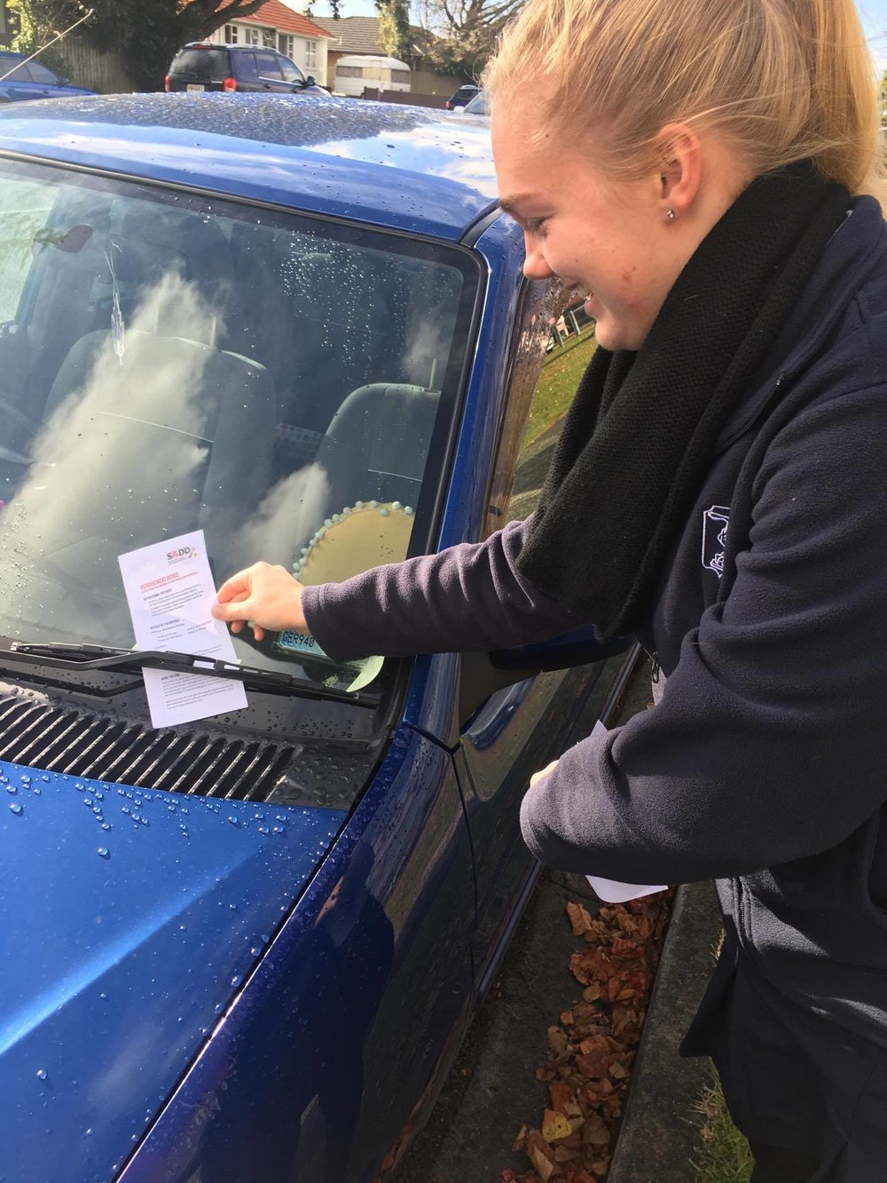 Tauranga Girls' College<br><small> Putting infringement notices on cars</small>