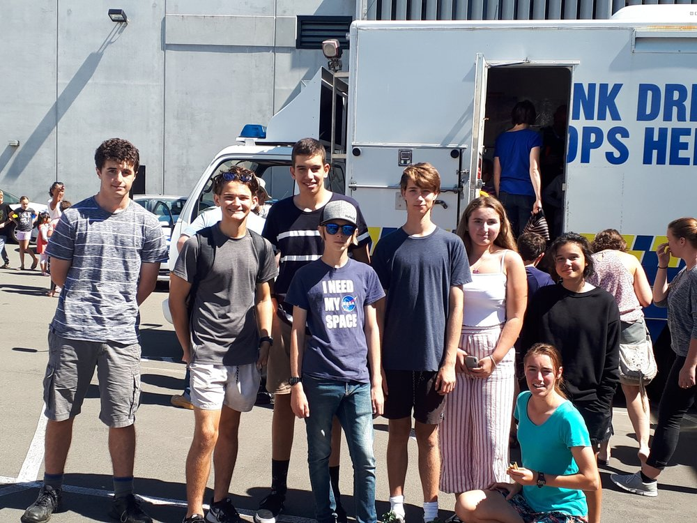 New Plymouth Boys' High School and New Plymouth Girls' High School - helping out at the Police Open Day