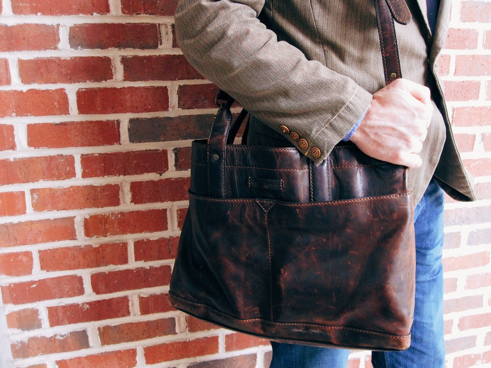 Mens Leather Briefcase by  Frye.