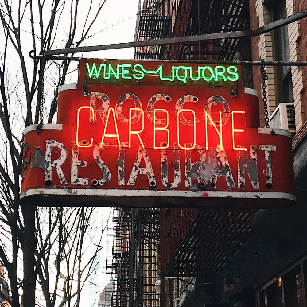 Try Carbone in New York City for Italian food.