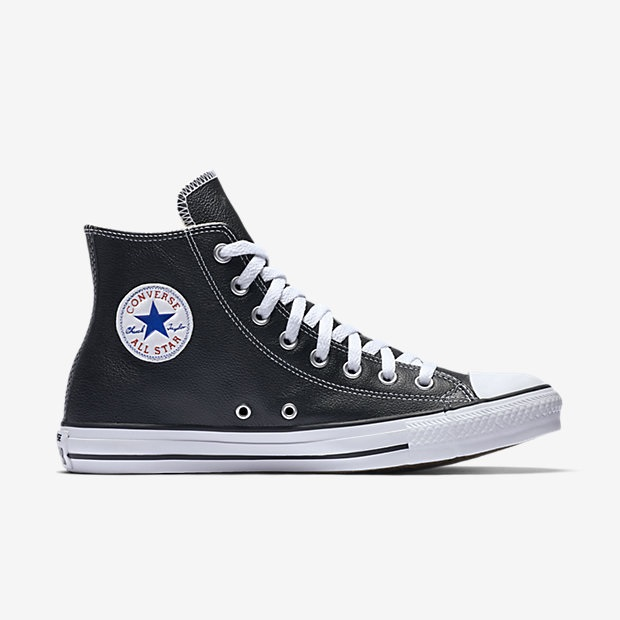 Converse Chuck Taylor All Star High Top Unisex Leather 132170C-001 Black f862d3527