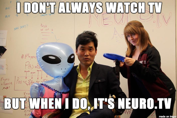 Sebastian Seung, professor of Computational Neuroscience at MIT & Claire O'Connell, MITx Fellow & Education Director of EyeWire. Source: NEURO.tv Kickstarter page