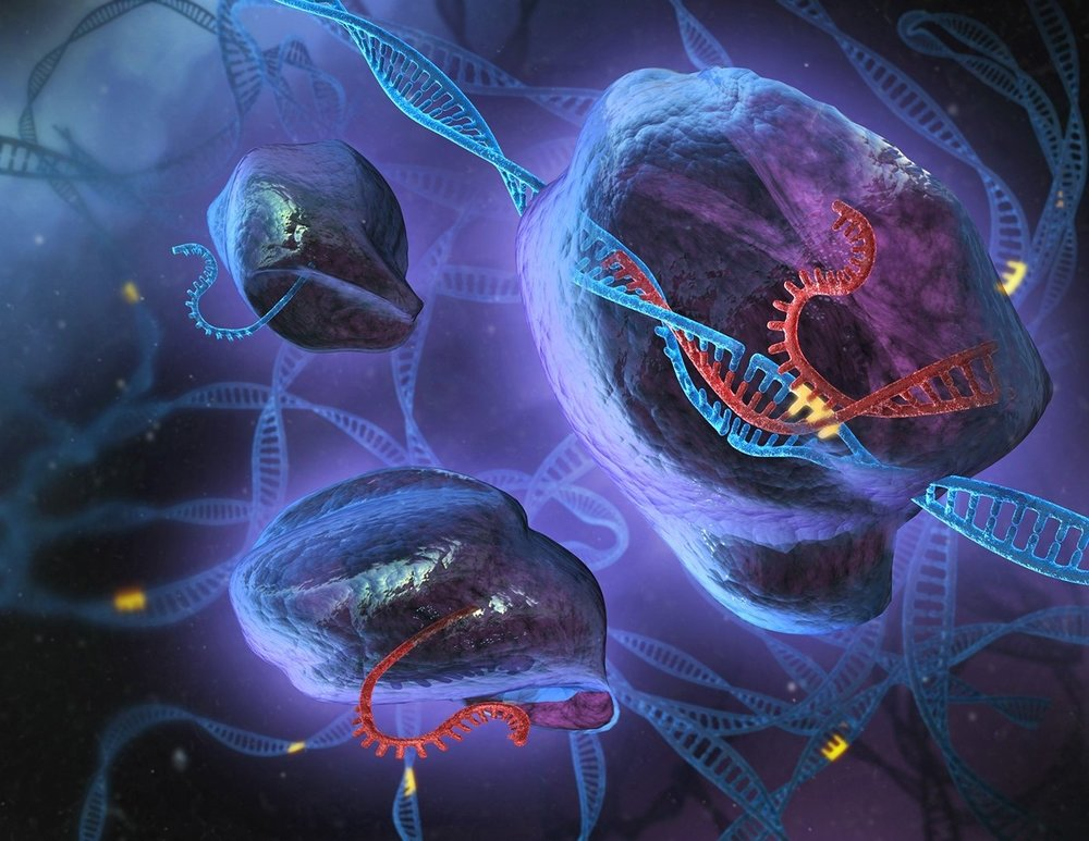 Not an alien world, but an immune system. Artist's rendition of Cas9 enveloping DNA strands that are about the get chopped. Source: http://www.publico.es/
