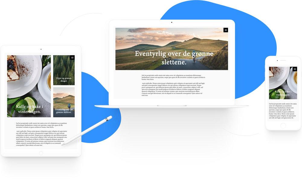 Illustrasjonsbilde av en responsiv nettside