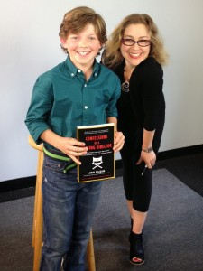 With Eli, proudly holding Confessions of a Casting Director