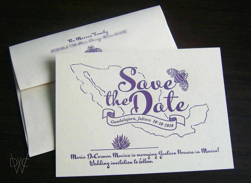 Design With Chon Maria Gustavo Wedding Invitation Paper Goods