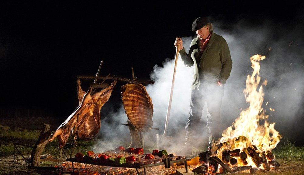 Francis Mallman cooks Patagonia Lamb on Netflix, Chef's Table.