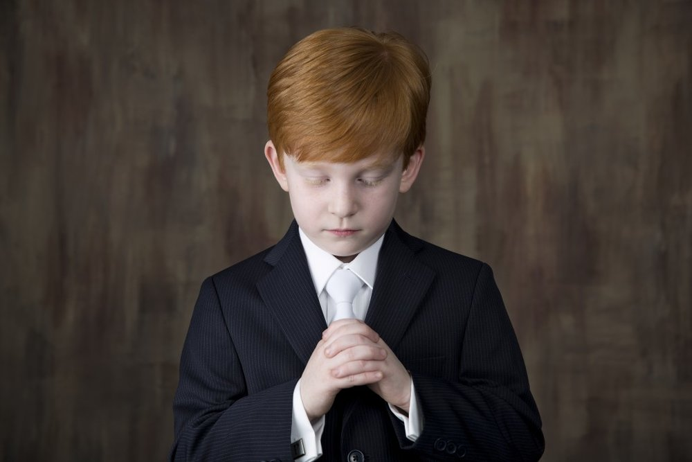 Communion Boy portrait session