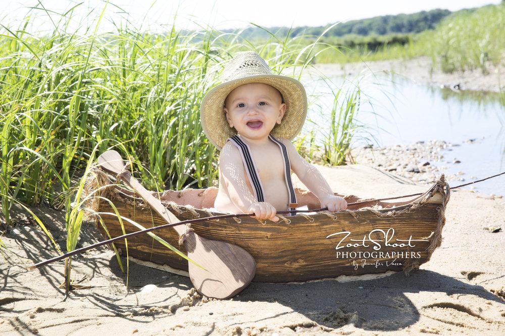 Baby photo shoot at Crab Meadow
