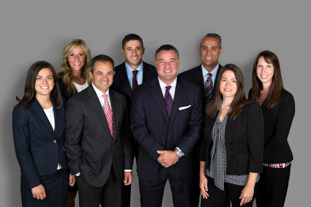 Business group photo for insurance company in Northport Long Island