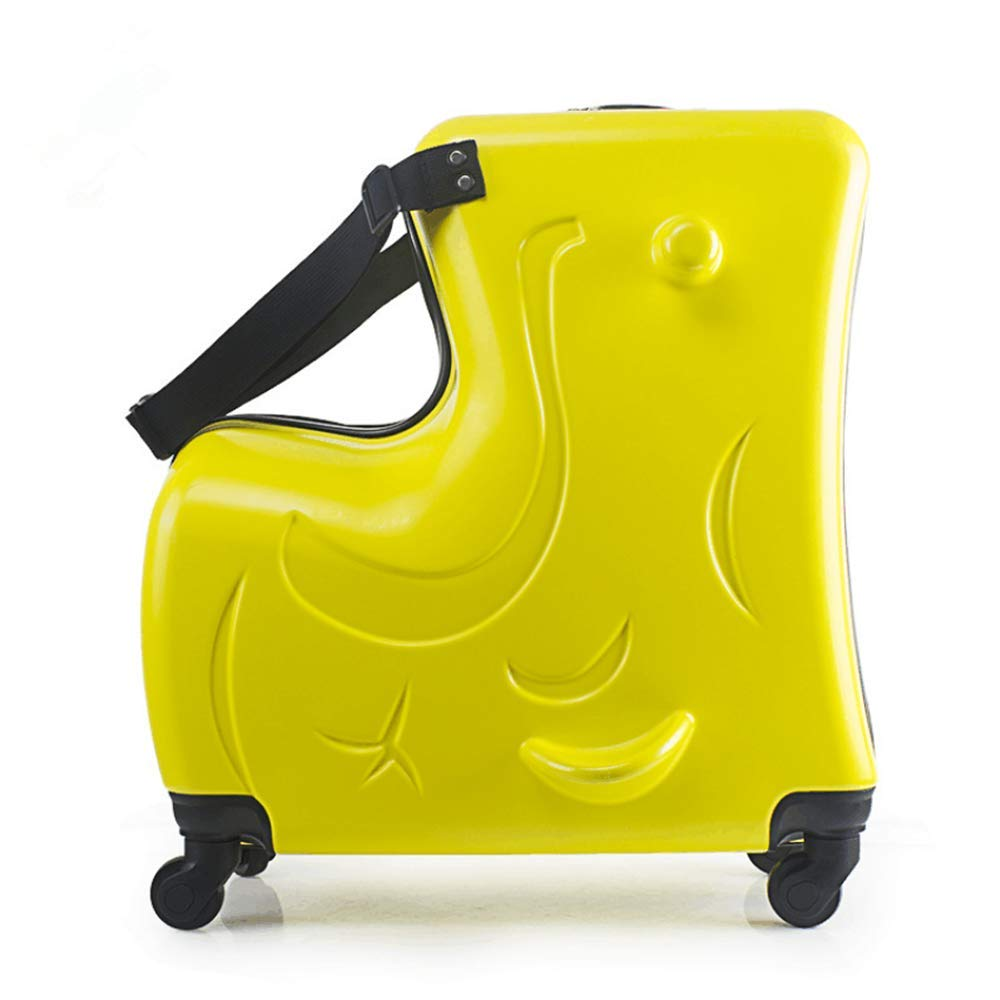 Ride-on yellow suitcase