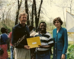 Receiving Anacostia River Conservation Award from Interior Secretary Bruce Babbitt and EPA Administrator Carol Browner