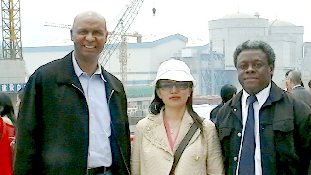 With Zhang Xiaoping and Norris at Daya Bay nuclear facility in China