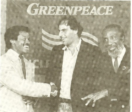 Norris McDonald, Greenpeace president Peter Bahouth and AAEA founding board member Dick Gregory