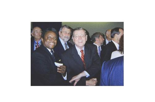 Norris McDonald and Senator Pete Domenici at the ceremony